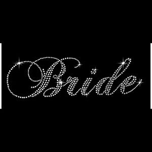 Classic Bride Wedding Clear Rhinestone Iron On New